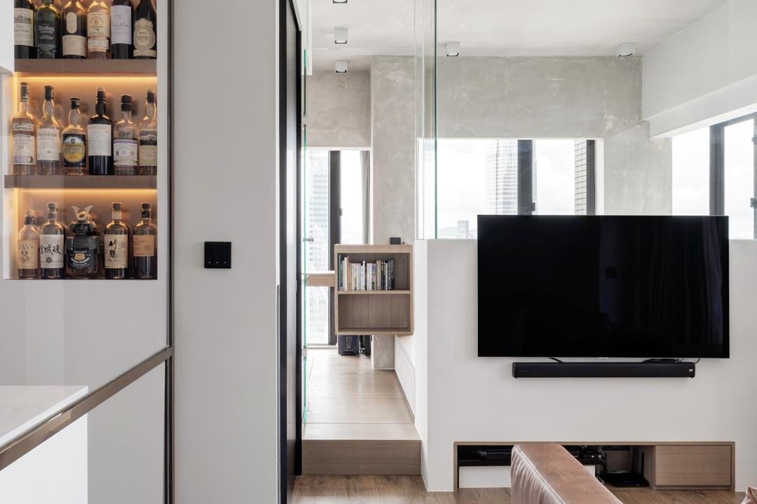 蔚晴軒, N'creative, 工業, 復古, 客廳, 私家樓