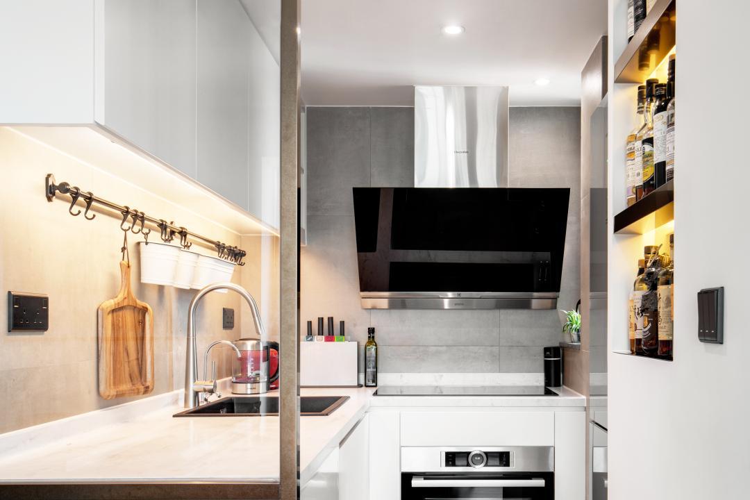 蔚晴軒, N'creative, 工業, 復古, 廚房, 私家樓