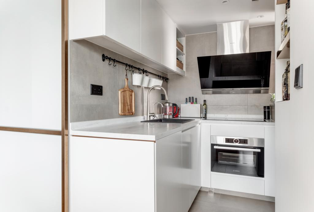 工業, 私家樓, 廚房, 蔚晴軒, 室內設計師, N'creative, 復古