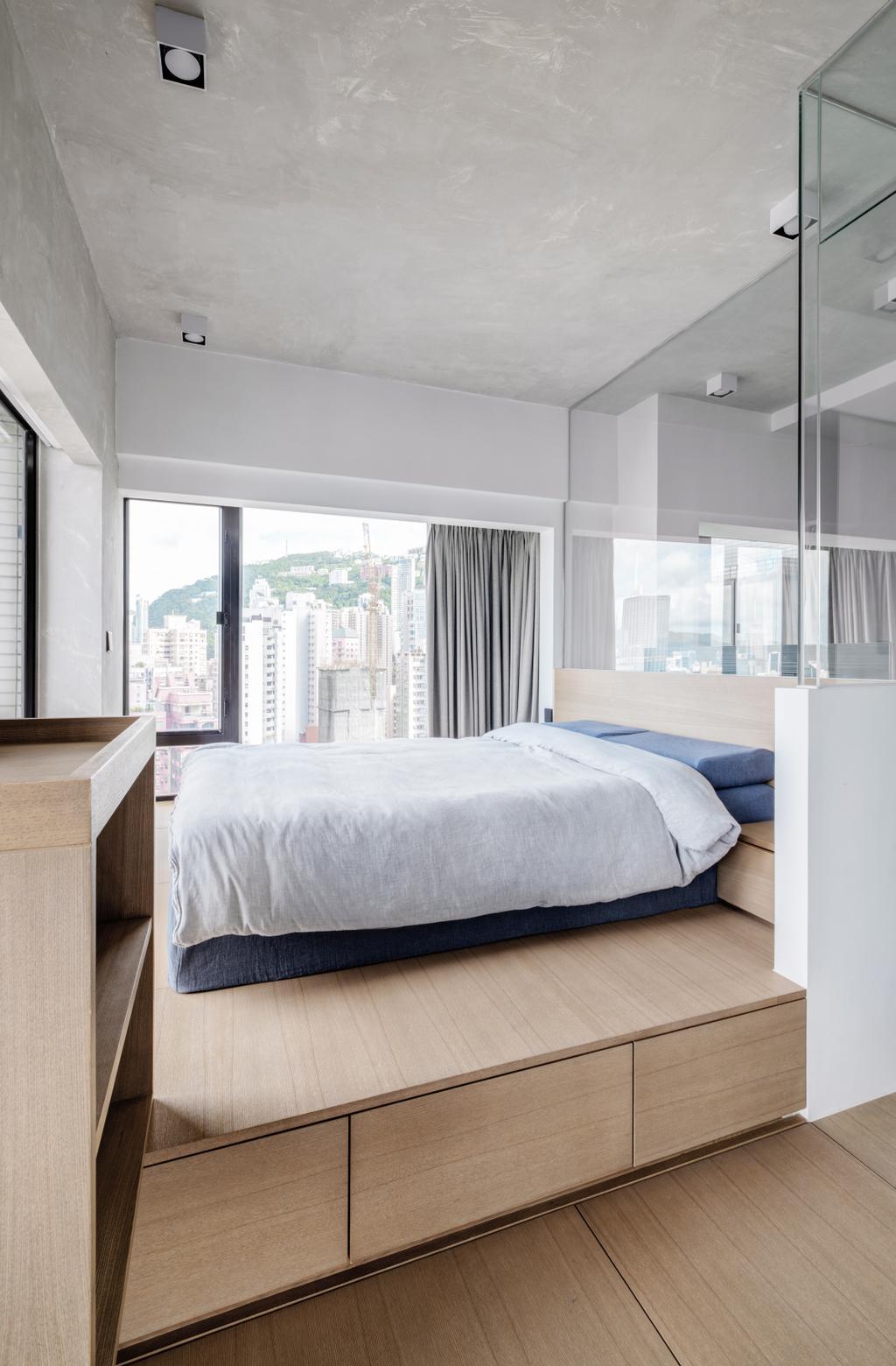 工業, 私家樓, 睡房, 蔚晴軒, 室內設計師, N'creative, 復古, Pltsform Bed, Storage Frame, Bed Frame