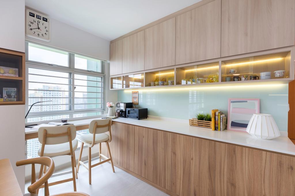 Contemporary, HDB, Study, Clementi Avenue 3, Interior Designer, The Roomakers