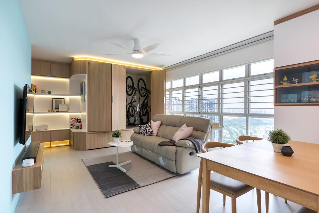 Contemporary, HDB, Living Room, Clementi Avenue 3, Interior Designer, The Roomakers