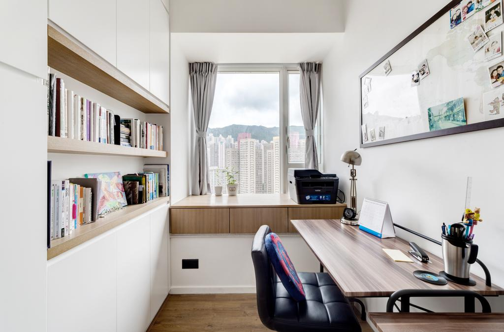 摩登, 私家樓, 書房, 現崇山, 室內設計師, N'creative, 北歐