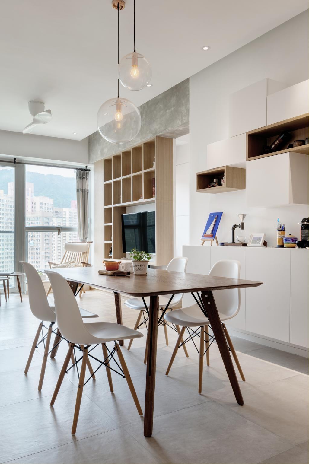 摩登, 私家樓, 飯廳, 現崇山, 室內設計師, N'creative, 北歐