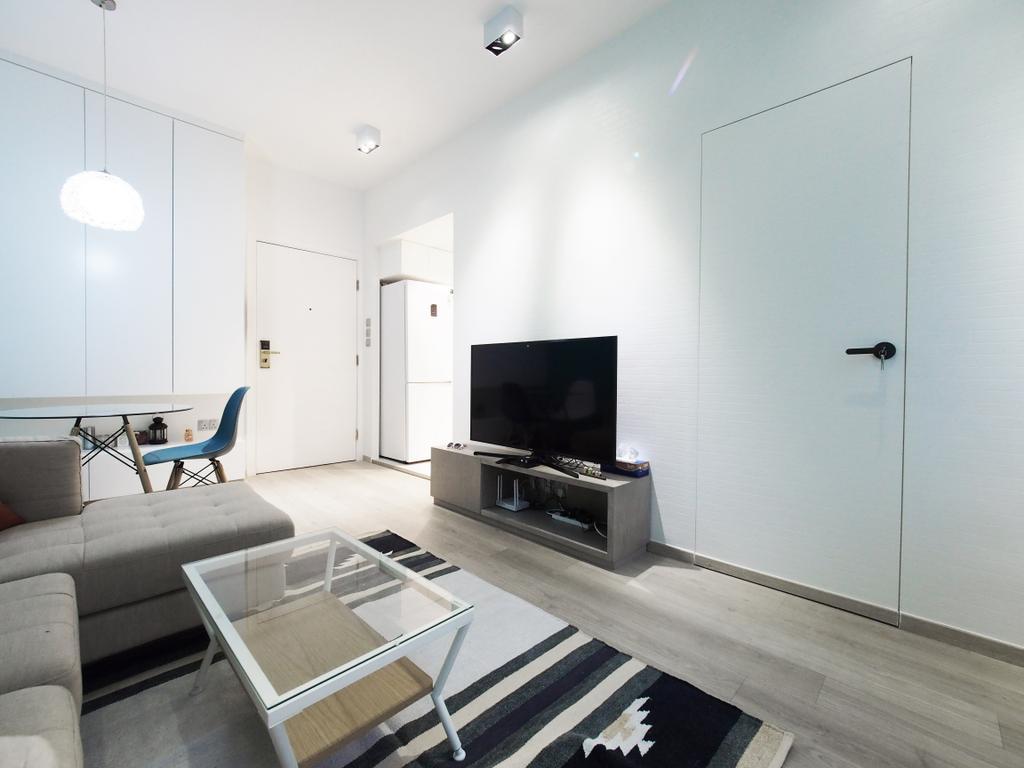 簡約, 私家樓, 客廳, 高逸華軒, 室內設計師, N'creative