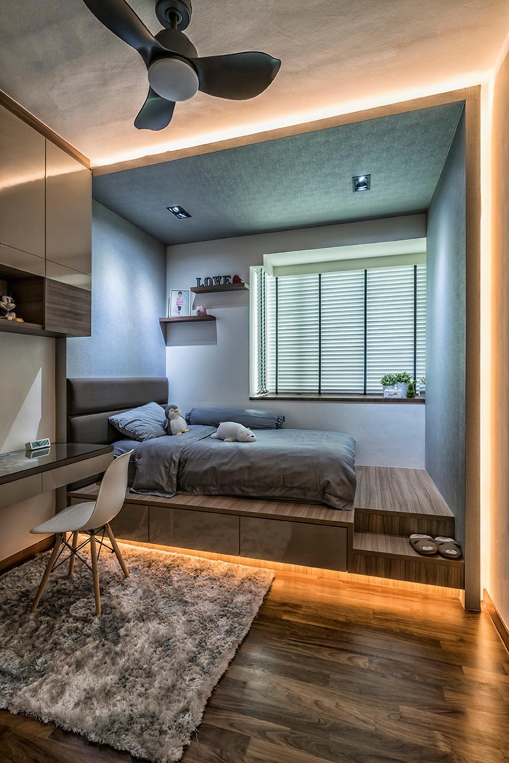 Contemporary, Condo, Bedroom, Park Green, Interior Designer, U-Home Interior Design