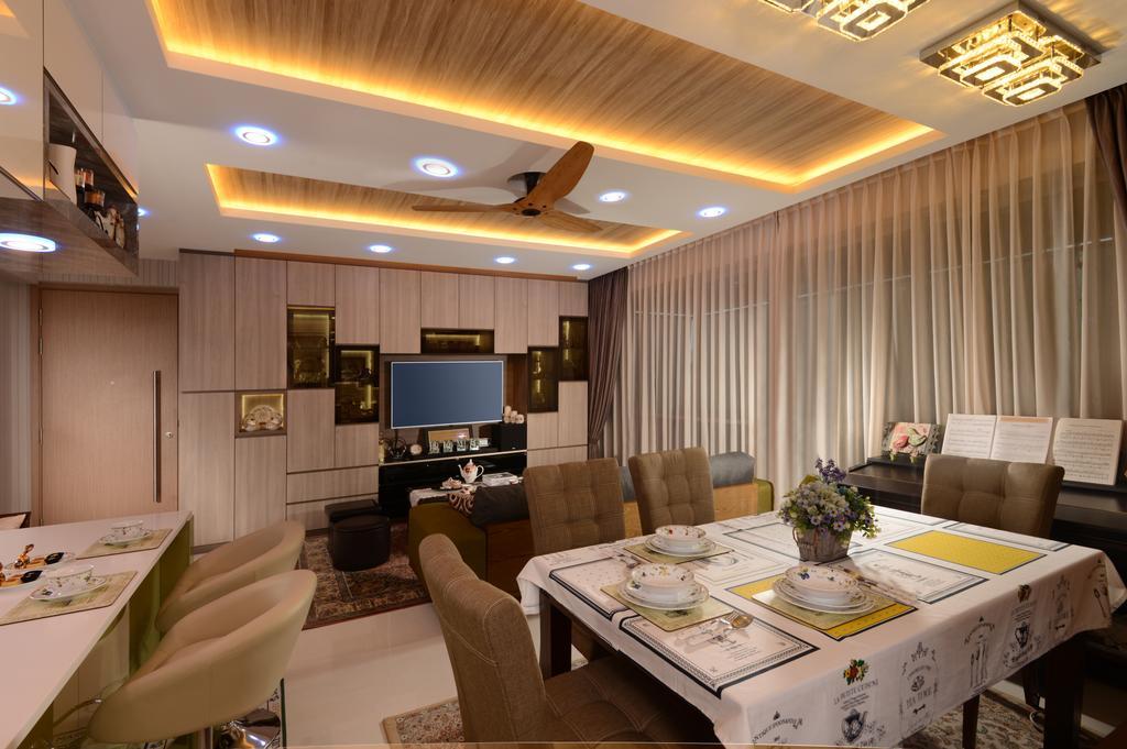 Transitional, Condo, Living Room, Q Bay Residences, Interior Designer, U-Home Interior Design