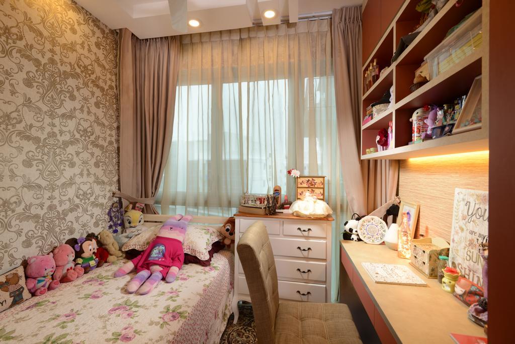 Transitional, Condo, Bedroom, Q Bay Residences, Interior Designer, U-Home Interior Design