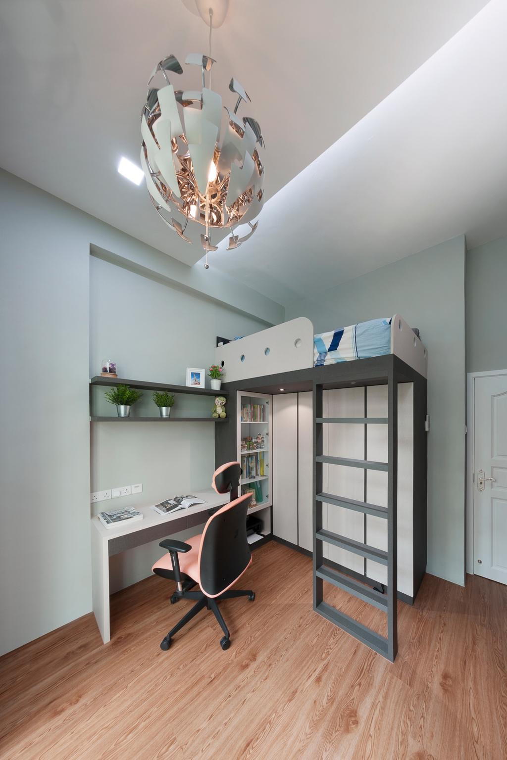 Vintage, Condo, Study, Northvale, Interior Designer, U-Home Interior Design