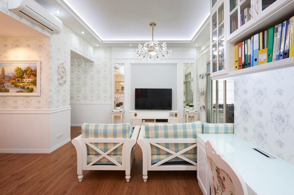 Vintage, Condo, Living Room, Northvale, Interior Designer, U-Home Interior Design