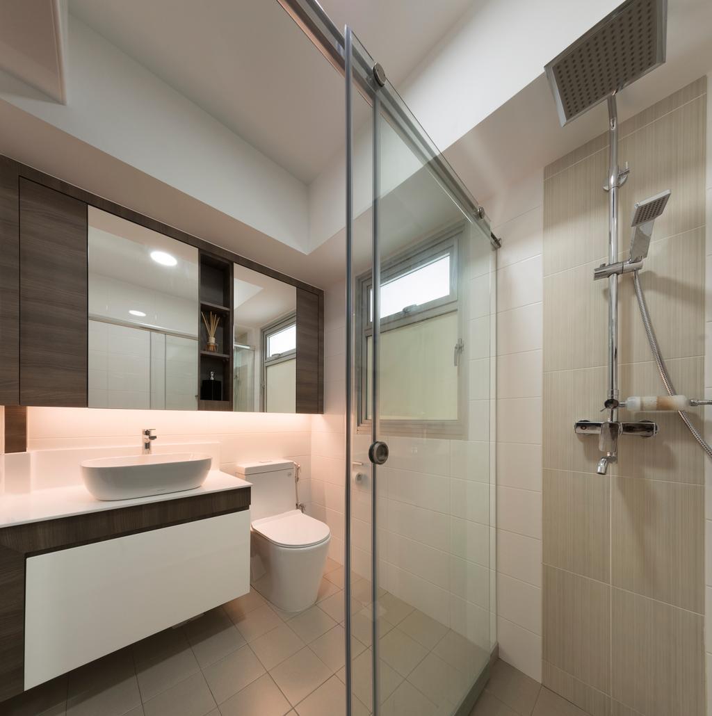 Contemporary, HDB, Bathroom, Canberra Walk, Interior Designer, U-Home Interior Design