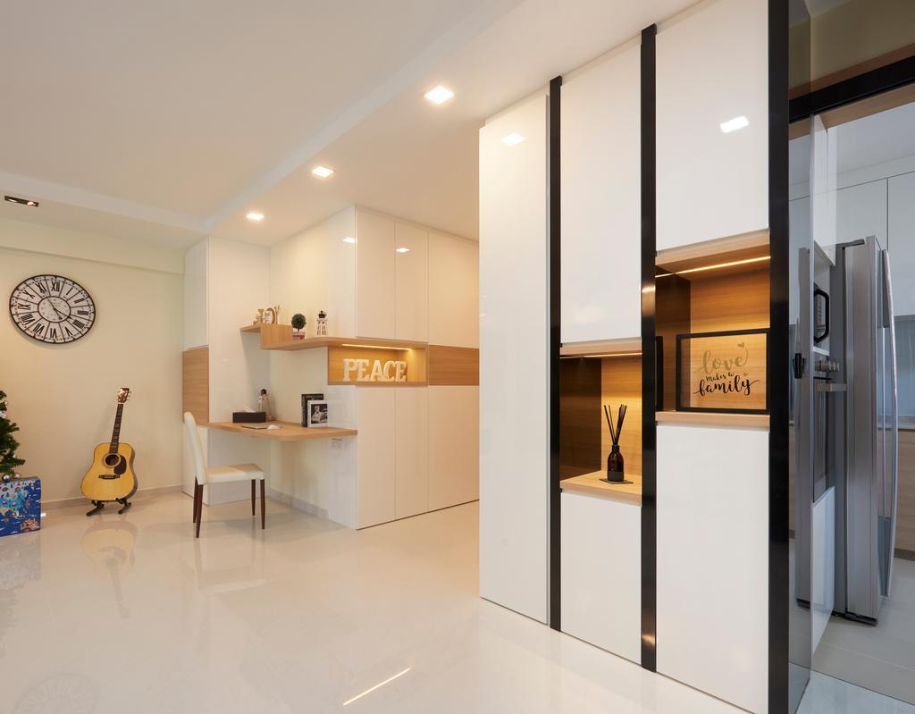 Contemporary, HDB, Living Room, Canberra Walk, Interior Designer, U-Home Interior Design