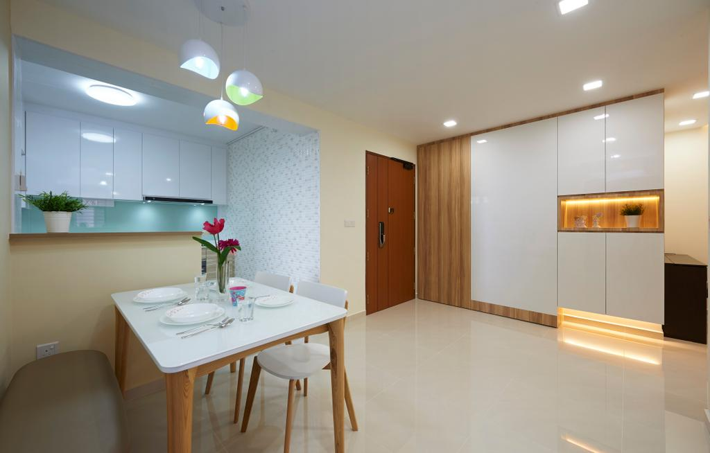 Contemporary, HDB, Dining Room, Clementi Avenue 6, Interior Designer, U-Home Interior Design