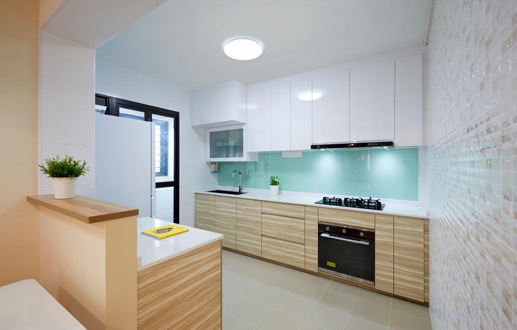 Contemporary, HDB, Kitchen, Clementi Avenue 6, Interior Designer, U-Home Interior Design