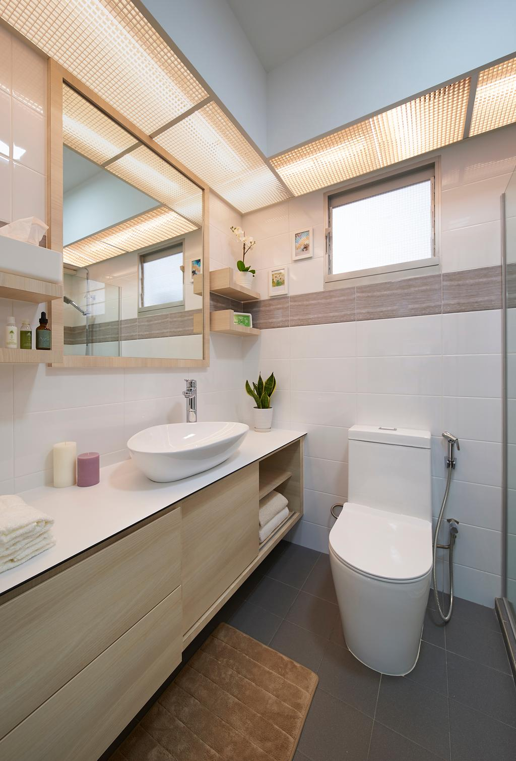 Contemporary, HDB, Bathroom, Anchorvale Crescent, Interior Designer, U-Home Interior Design