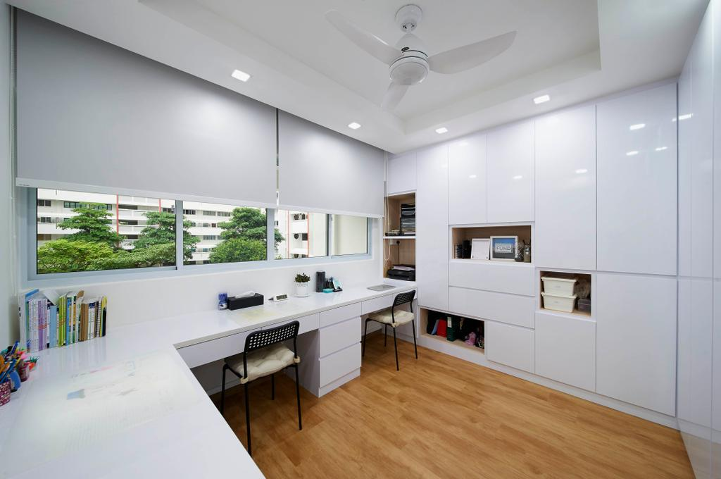 Contemporary, HDB, Study, Tampines Street 41, Interior Designer, U-Home Interior Design
