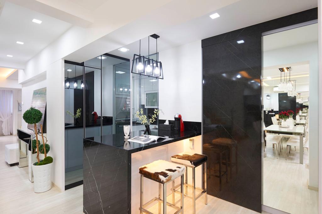Contemporary, HDB, Tampines Street 41, Interior Designer, U-Home Interior Design