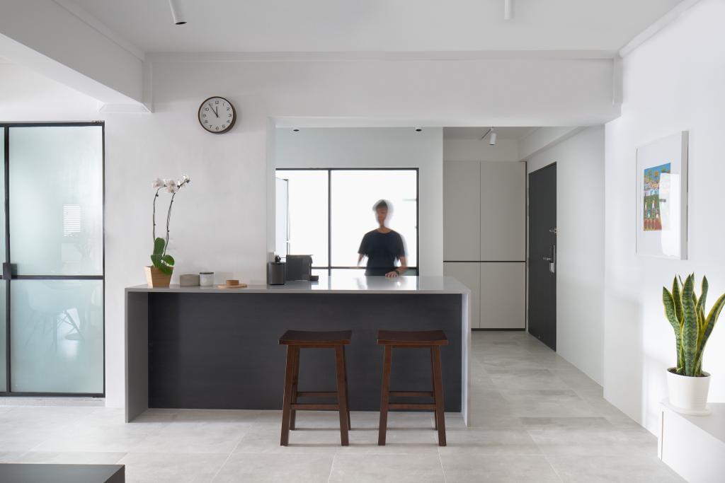 Modern, HDB, Kitchen, Marine Drive, Architect, PROVOLK ARCHITECTS, Kitchen Island, Island Concept, Open Kitchen