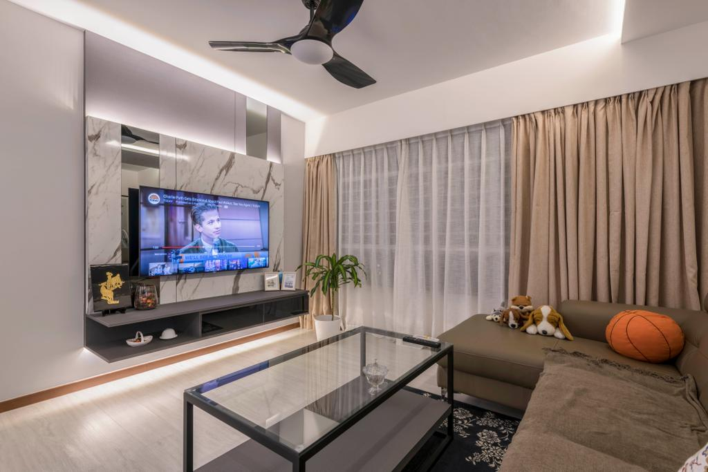 Contemporary, HDB, Living Room, Woodlands Drive 73, Interior Designer, Project Guru