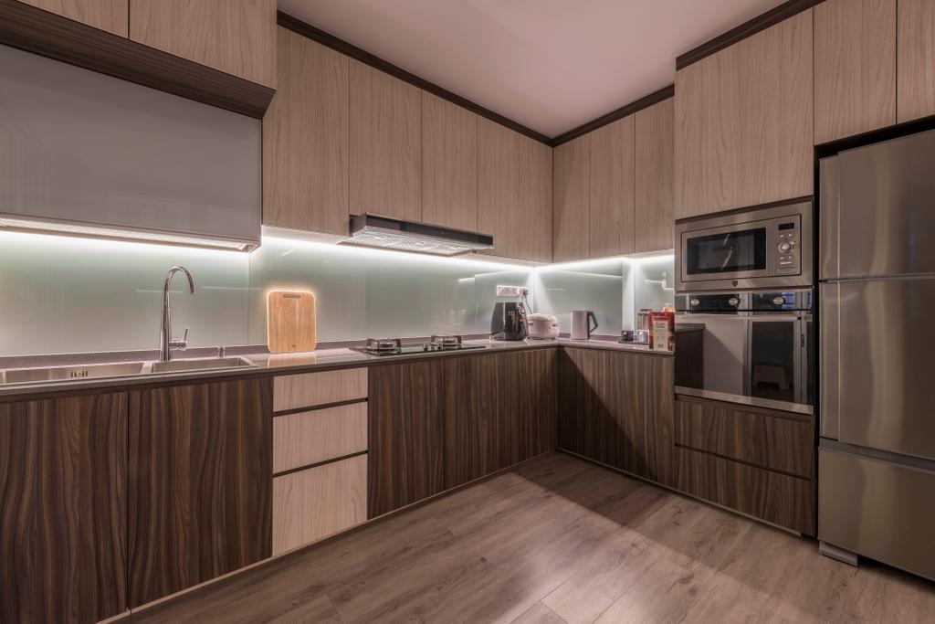 Contemporary, HDB, Kitchen, Woodlands Drive 73, Interior Designer, Project Guru