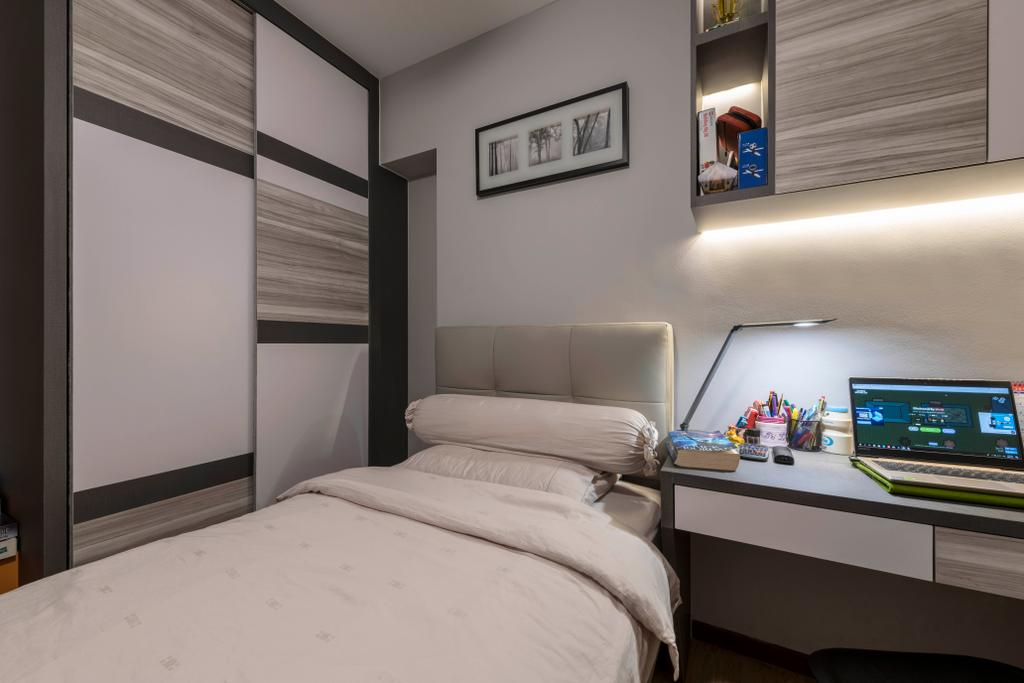 Contemporary, HDB, Bedroom, Woodlands Drive 73, Interior Designer, Project Guru