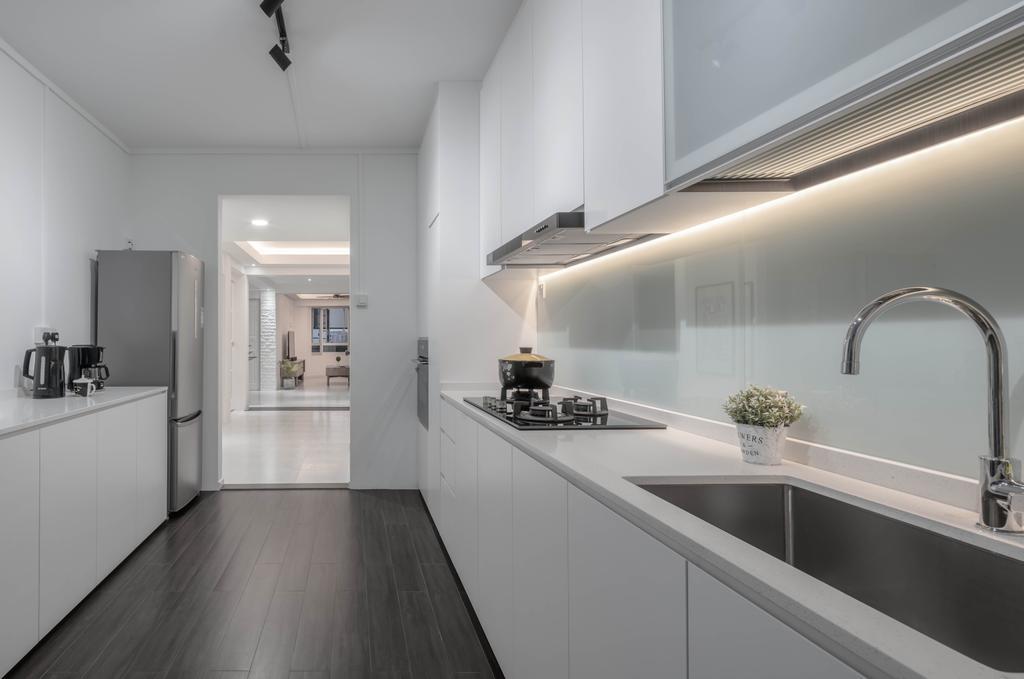 Contemporary, HDB, Kitchen, Tampines, Interior Designer, Stylemyspace