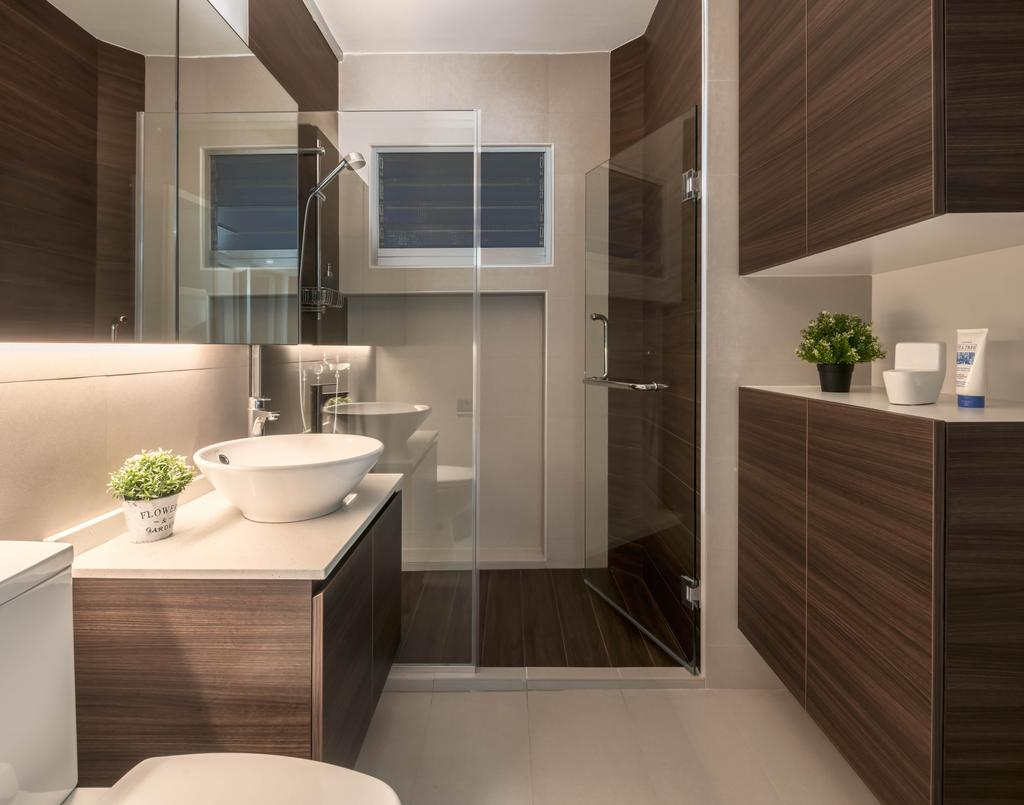 Contemporary, HDB, Bathroom, Tampines, Interior Designer, Stylemyspace