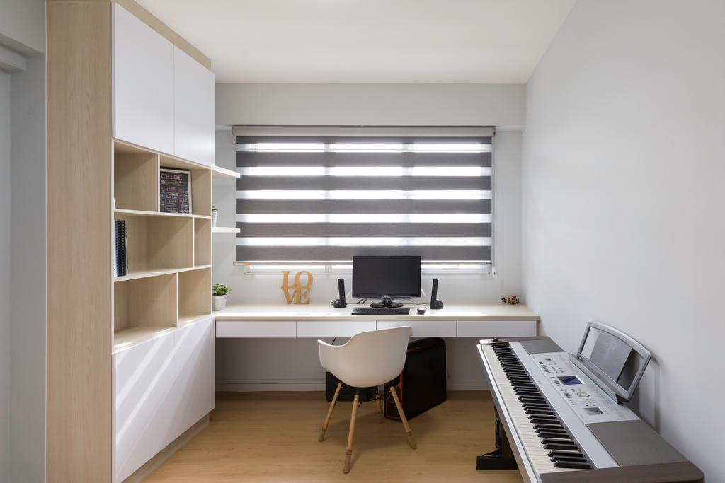 Contemporary, HDB, Study, Bukit Batok, Interior Designer, Charlotte's Carpentry