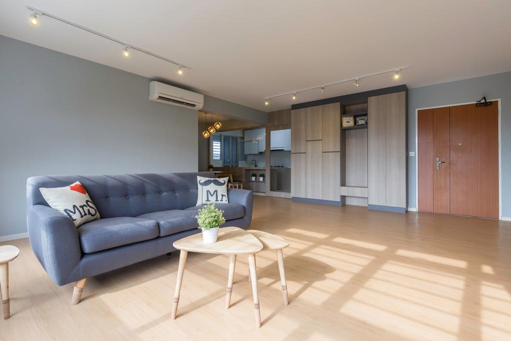 Contemporary, HDB, Living Room, Bukit Batok, Interior Designer, Charlotte's Carpentry
