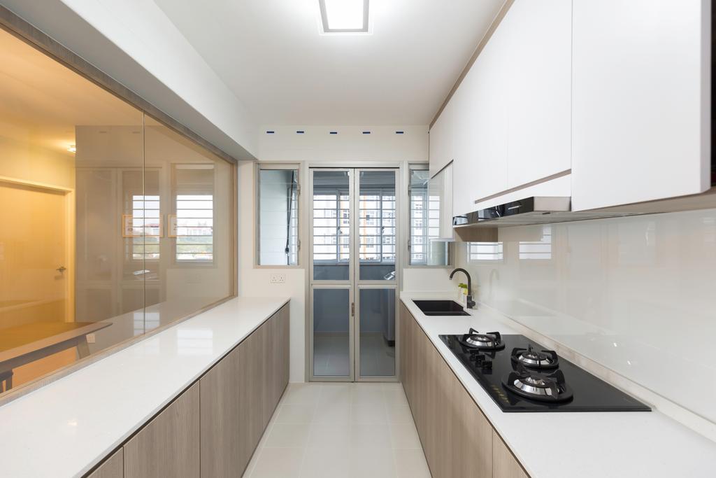 Contemporary, HDB, Kitchen, Bukit Batok, Interior Designer, Charlotte's Carpentry