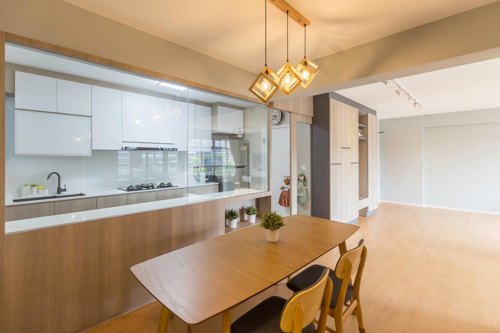 Contemporary, HDB, Dining Room, Bukit Batok, Interior Designer, Charlotte's Carpentry