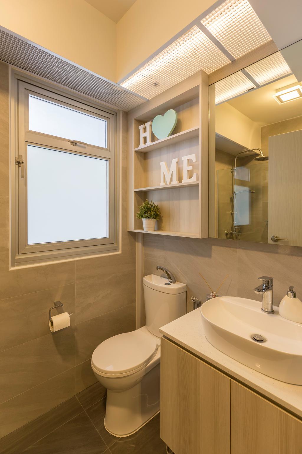 Contemporary, HDB, Bathroom, Bukit Batok, Interior Designer, Charlotte's Carpentry
