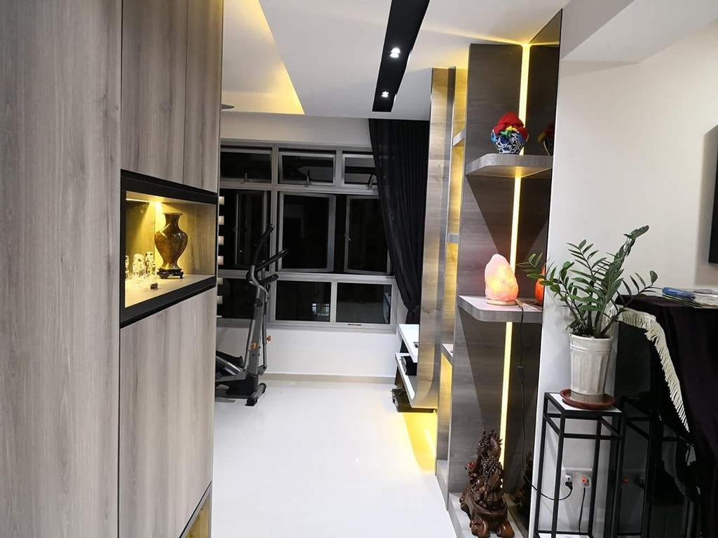 HDB, Living Room, Canberra Crescent, Interior Designer, Design Identity