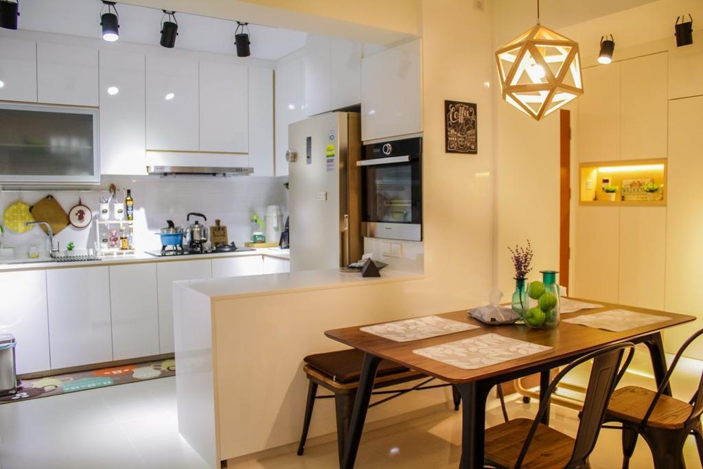 Modern, HDB, Dining Room, Buangkok Crescent (Block 997), Interior Designer, Design Identity