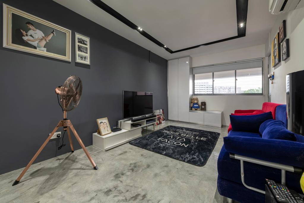 Industrial, HDB, Living Room, Bukit Batok West Avenue 8, Interior Designer, Design Identity