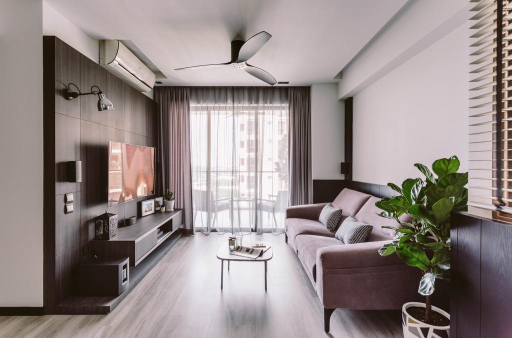Contemporary, Condo, Living Room, Parc Vera, Interior Designer, Habit