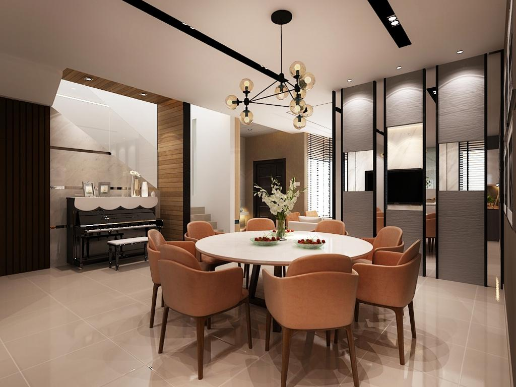 Modern, Landed, Taman Desa Terbau, Interior Designer, Sky Creation