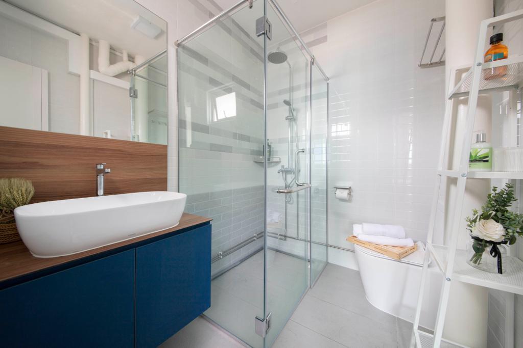 Contemporary, HDB, Bathroom, Bedok Reservoir Road, Interior Designer, Starry Homestead