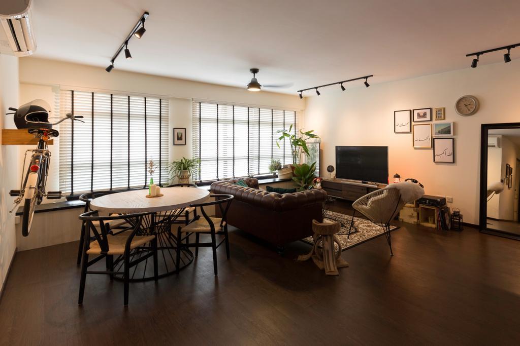 Contemporary, HDB, Living Room, Keat Hong Link, Interior Designer, Glamour Concept