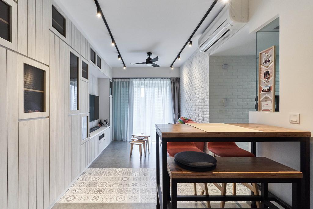 Contemporary, Condo, Dining Room, The Terrace, Interior Designer, i-Chapter