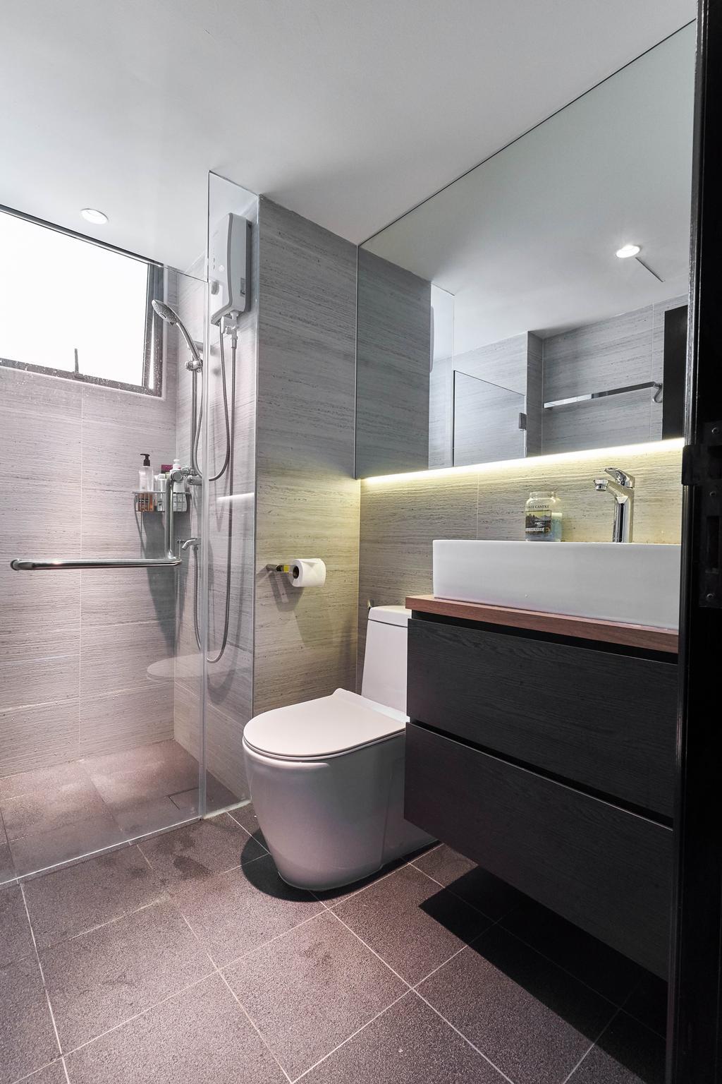 Contemporary, Condo, Bathroom, Palm Garden, Interior Designer, Viz Studio