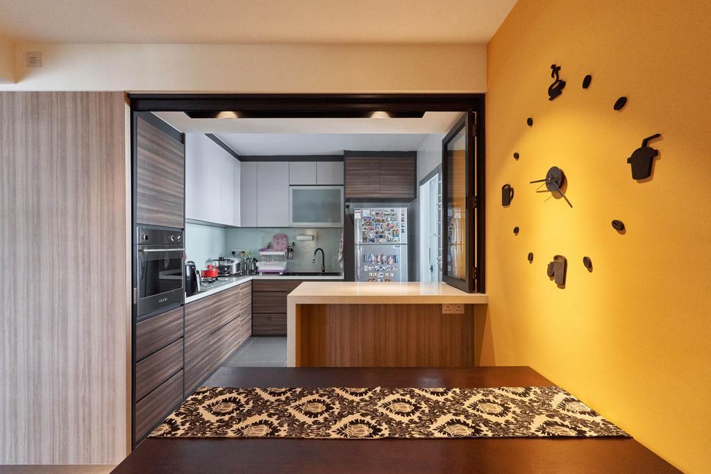 Contemporary, HDB, Kitchen, Keat Hong Close, Interior Designer, Viz Studio