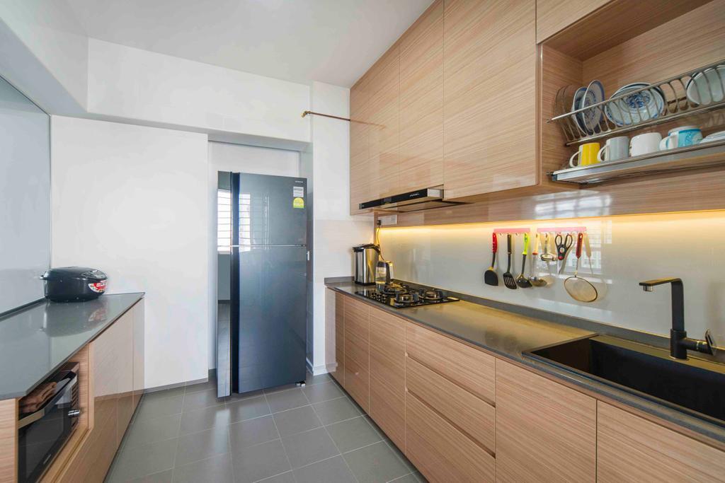 Contemporary, HDB, Kitchen, Yishun, Interior Designer, Cozy Ideas Interior Design