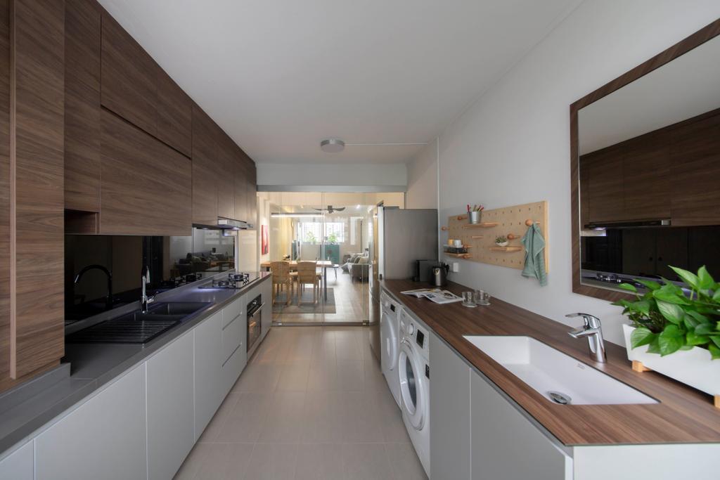 Contemporary, HDB, Kitchen, Clementi Avenue 4, Interior Designer, Starry Homestead