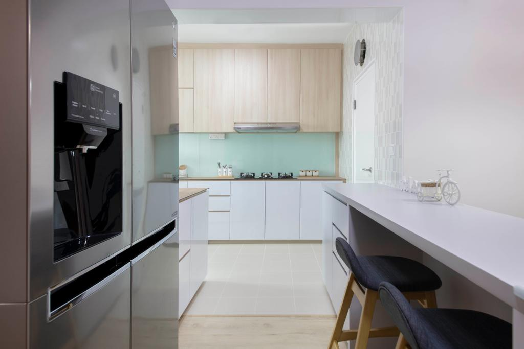 Scandinavian, HDB, Kitchen, Bukit Batok West Avenue 8, Interior Designer, Starry Homestead