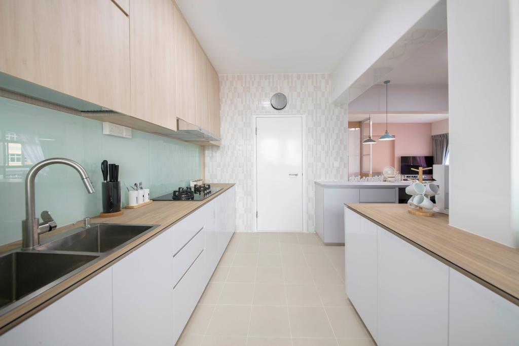 Scandinavian, HDB, Kitchen, Bukit Batok West Avenue 8, Interior Designer, Starry Homestead