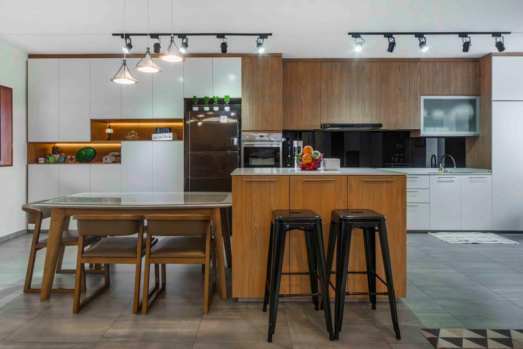 Contemporary, HDB, Kitchen, Pasir Ris, Interior Designer, Cozy Ideas Interior Design