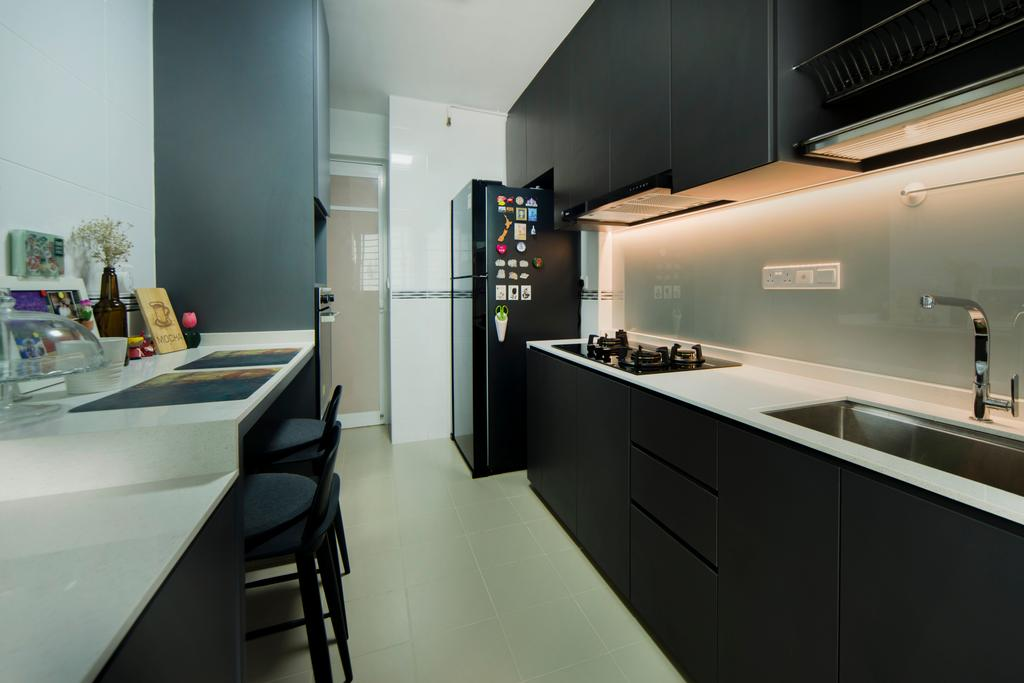 Contemporary, HDB, Kitchen, Telok Blangah, Interior Designer, Cozy Ideas Interior Design