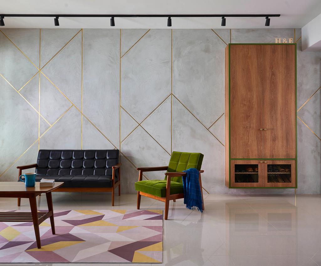 Contemporary, HDB, Living Room, Telok Blangah Street 31, Interior Designer, Versaform