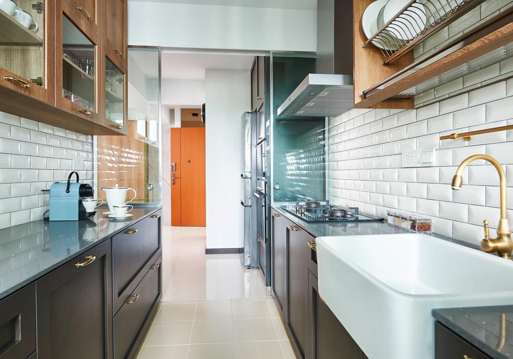 Contemporary, HDB, Dining Room, Telok Blangah Street 31, Interior Designer, Versaform
